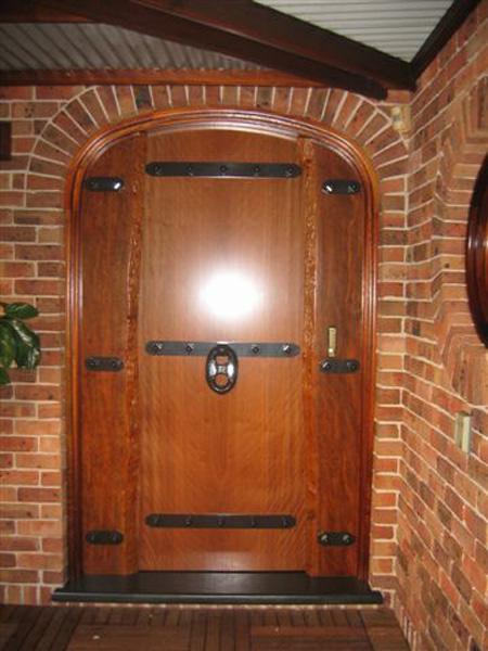 Brushbox Slab Front Door