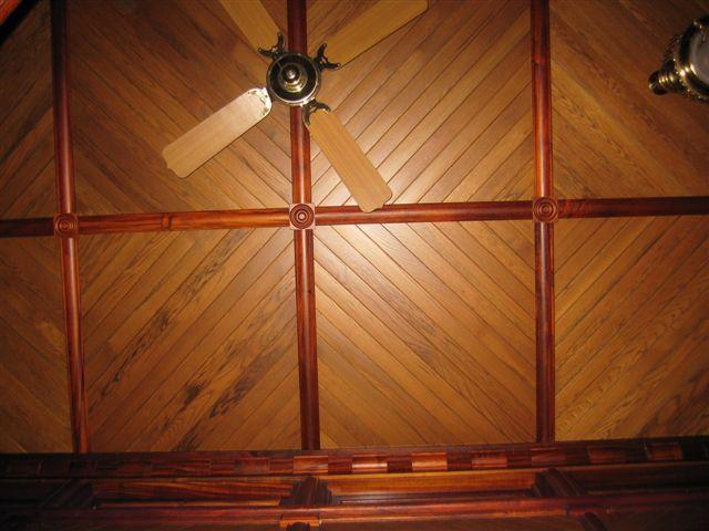 Red Cedar Trim with American Oak Ceiling Lining