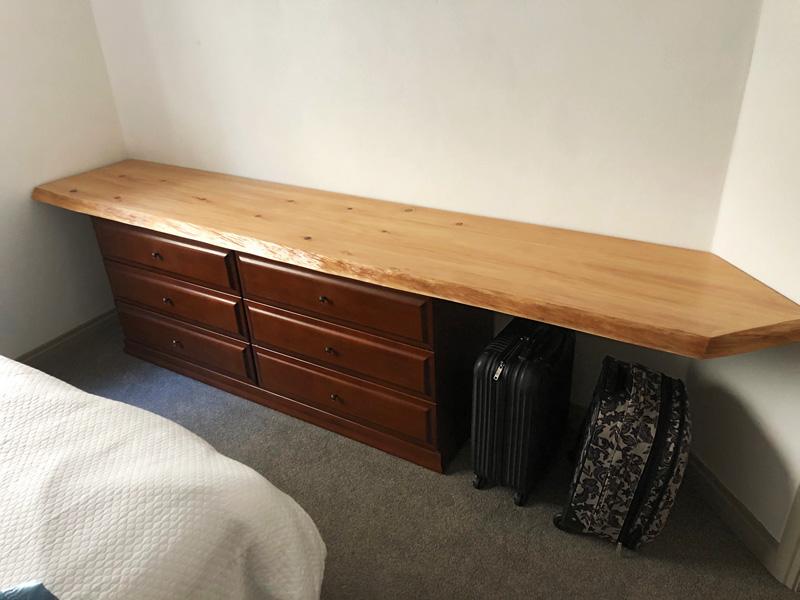 Bedside Dresser - Norfolk Pine Slab