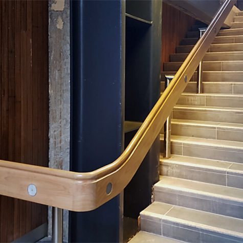 RMIT - Blackbutt handrails 1