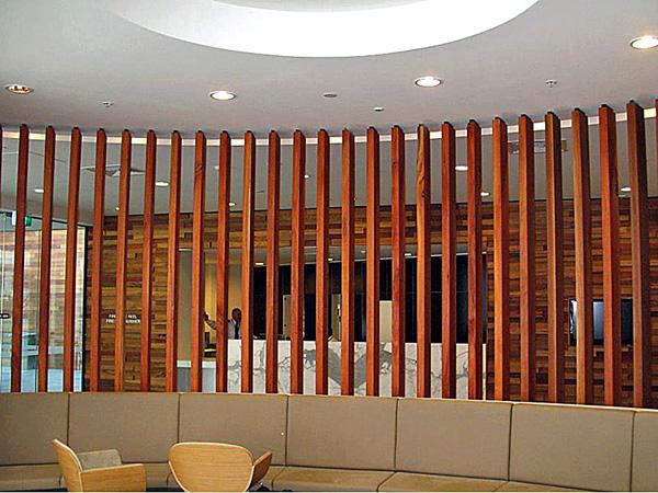 """Reclaimed"" Sydney Bluegum screen Aust. National Uni (Canberra)"