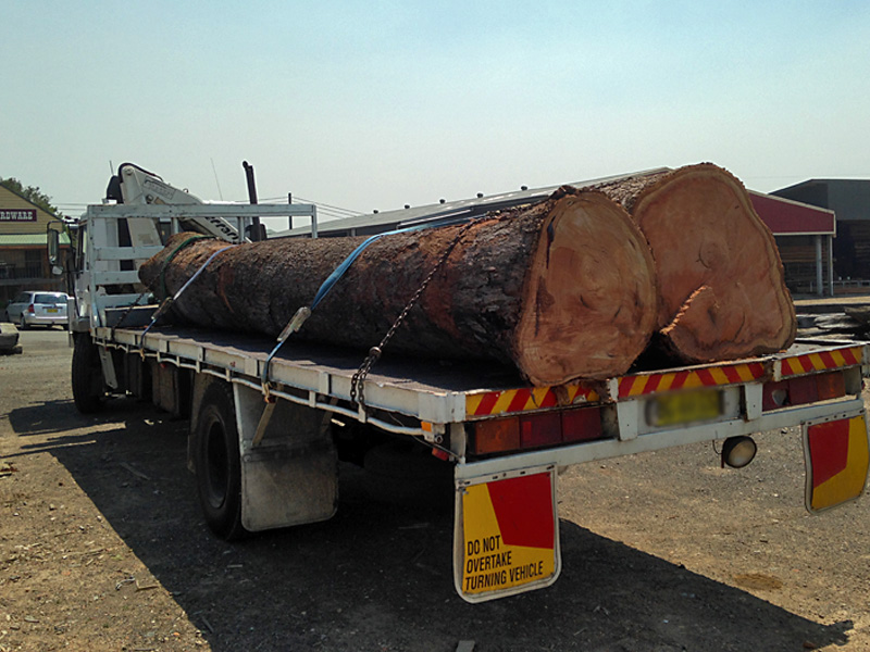 """""""Reclaimed""""  logs from suburban buiding sites"""