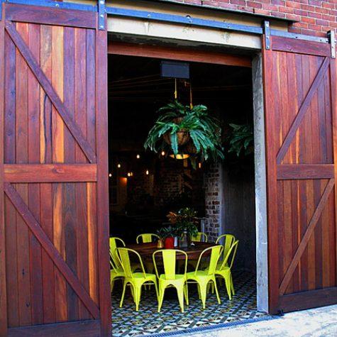 Red Ironbark Barn Doors - Grounds Coffee