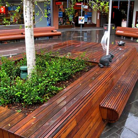 Spotted Gum Decking Seats-RHTC