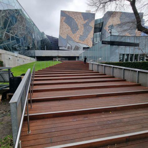 Timber decking stair